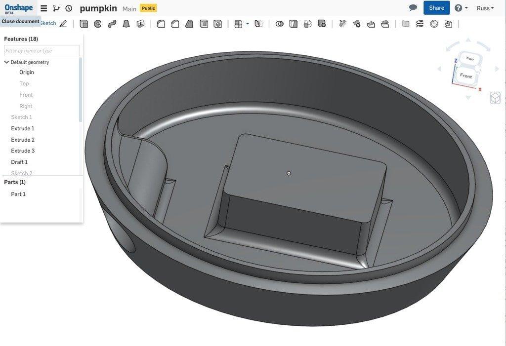 pumpkinbase_display_large.jpg Download free STL file Pumpkin base • 3D printable model, idig3d