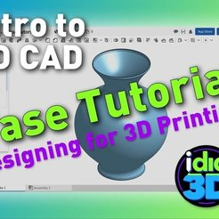 Fichier 3D gratuit Tutoriel Vase - Introduction à la CAO pour l'impression 3D, idig3d