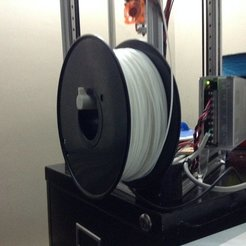 with_spool2_display_large.jpg Download free STL file Angled Spool Holder for 2020 rail • 3D print design, idig3d