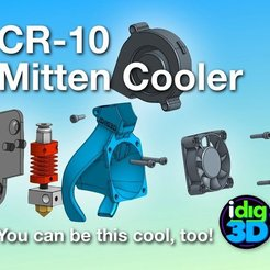 Download free 3D model CR-10 / Tronxy Mittens Cooler, idig3d