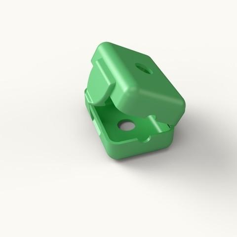 17ffa8b39af6e0ab69ba8c8a1bf6b4f2_display_large.jpeg Download free STL file Snap-on Filament Filter/Oiler • 3D printer object, idig3d