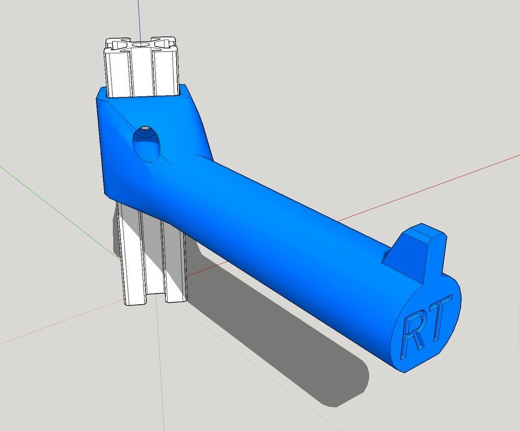 angled_spool_su_display_large.jpg Download free STL file Angled Spool Holder for 2020 rail • 3D print design, idig3d