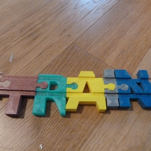 Descargar modelos 3D gratis Letras de la vía del tren (compatibles con Brio y Lillabo), jerome_plut