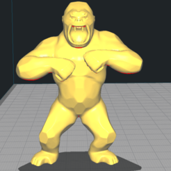 Télécharger plan imprimante 3D Gorille KONG Animal Monkey Gorilla, Mike01
