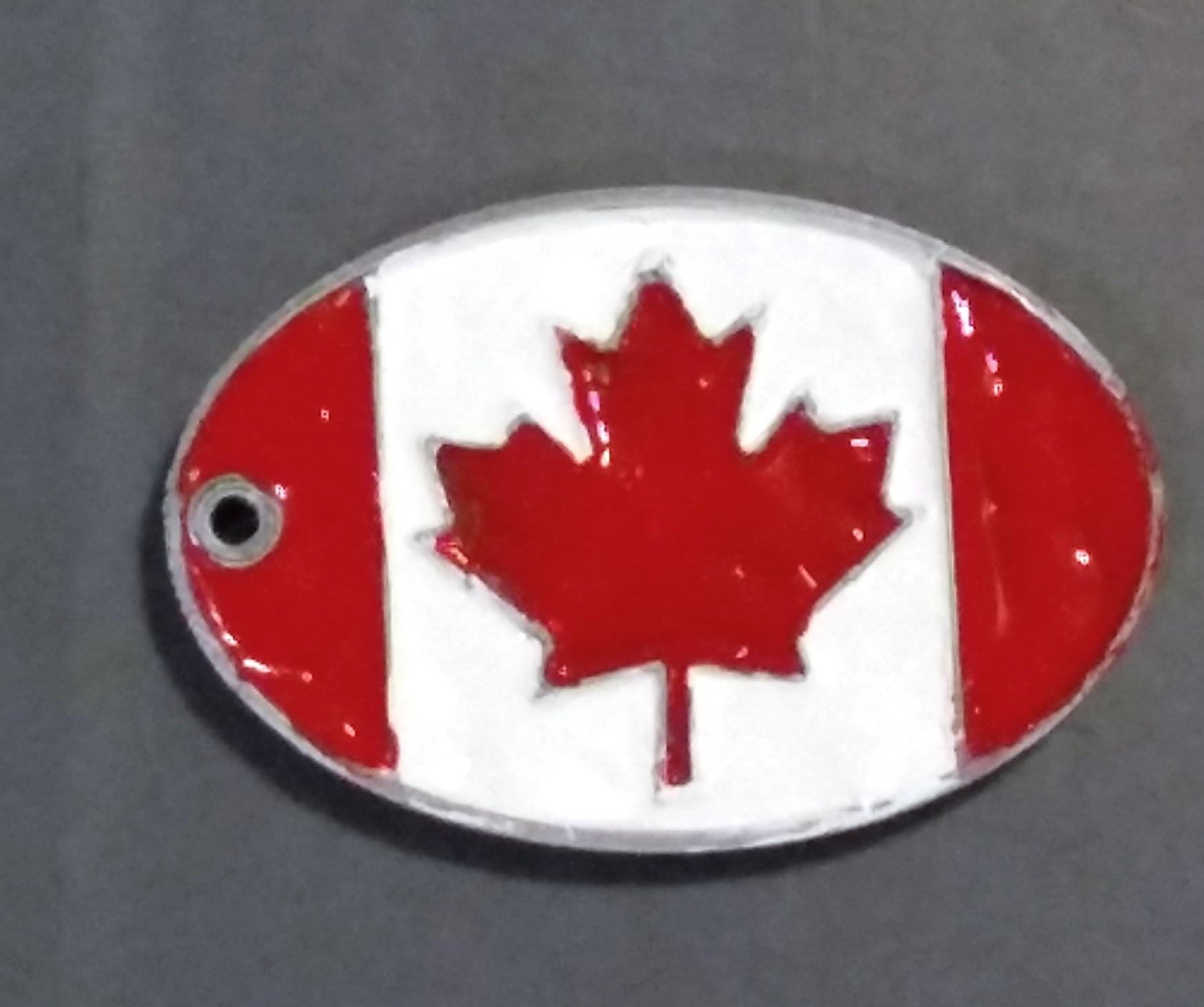 laguage_tag_Canada2.jpg Télécharger fichier STL gratuit Étiquette de bagage Canada • Plan pour imprimante 3D, cristcost