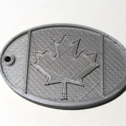 luggage_tag_Canada1.jpg Télécharger fichier STL gratuit Étiquette de bagage Canada • Plan pour imprimante 3D, cristcost