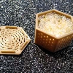 Télécharger fichier STL gratuit Boîte hexagonale de déshydratants • Design pour imprimante 3D, cristcost