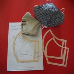 Descargar diseños 3D gratis Máscara de patrón de bricolaje Coronavirus covid 19, Nitsoh