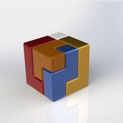 Download free STL Easy Tetris style Puzzle Cube, Digi2print