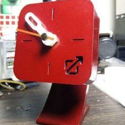 Download 3D printer designs Custom Desktop Clock , Digi2print