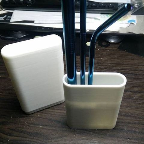Descargar modelo 3D Caja de paja de acero inoxidable, Digi2print