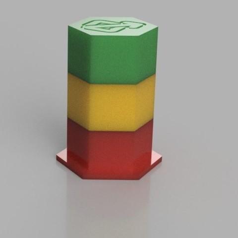Imprimir en 3D Contenedor Hexagonal, Digi2print