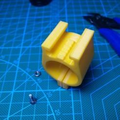 Télécharger fichier imprimante 3D Support de lampe de poche paramétrique pour Ner Ner N-strike, Digi2print