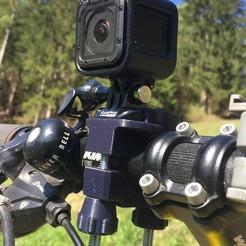 Impresiones 3D Portabicicletas para la cámara GoPro., jocodrvar