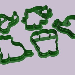 Download 3D model 5 elephant-shaped cutters., MVano