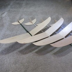 Descargar diseños 3D Modelo Mela 2 Plane. Planeador, avión con ala de balsa., MVano