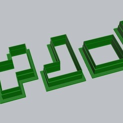 Download 3D printer designs 5 pieces of cutters in tetris cubes., MVano