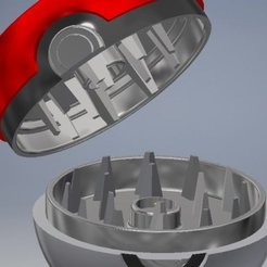 Download free STL files Pokeball Grinder V2, SLIDES