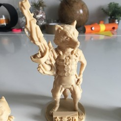 Free 3D print files coon rocket galaxy guardian hero, redbulls69
