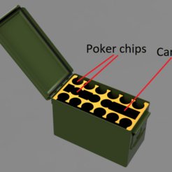 50 Cal Ammo Can Bottom v1.png Download STL file Ammo can poker insert • 3D printing model, the_sergeant