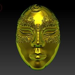 3D print files Venetian Mask, tedalvarez