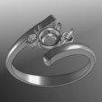 Modèle 3D gratuit Anille de 3 pierres, tedalvarez