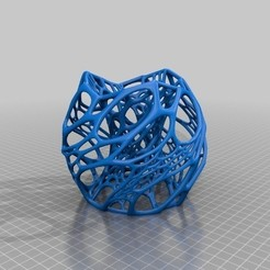 cellularThing_optimizedForMakerbot_preview_featured.jpg Download free STL file Cellular Lamp • 3D printer design, FARAS