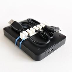 20170214-2973.jpg Télécharger fichier STL gratuit Support de câble USB portable • Design pour impression 3D, FARAS
