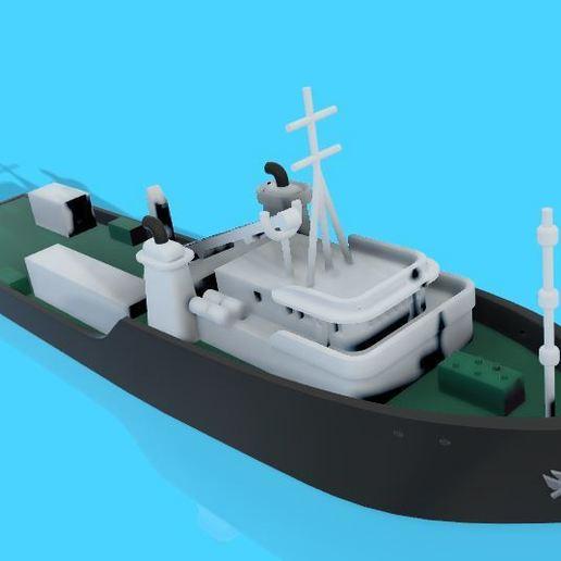 cargo.JPG Download STL file Cargo ship • 3D print model, EliGreen