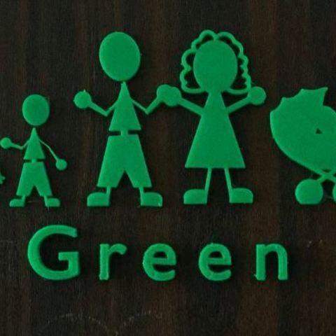 Télécharger fichier 3D gratuit Figurines Happy Family Sign Door Figures, EliGreen