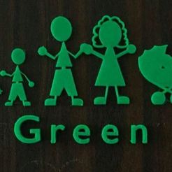 Télécharger fichier 3D gratuit Figurines Happy Family Sign Door Figures, EliGreen