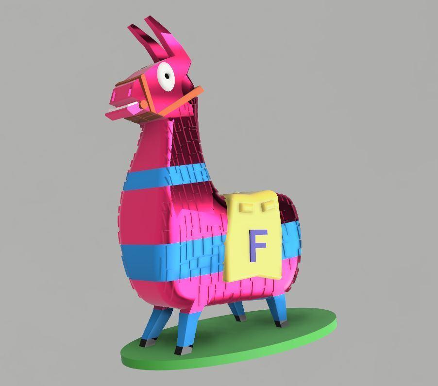 36571c1acf77b6bbd3364adf7722b285_display_large.JPG Download STL file Fortnite LLama • 3D print template, EliGreen