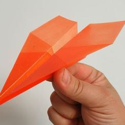 Download free 3D printer model Flying PLA Paper Plane (watch the video), EliGreen