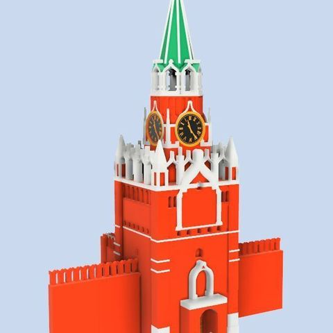 7911cee8ebc2701f659651b6387b51de_display_large.JPG Télécharger fichier STL gratuit Tour Spasskaya du Kremlin sur la Place Rouge • Modèle à imprimer en 3D, EliGreen