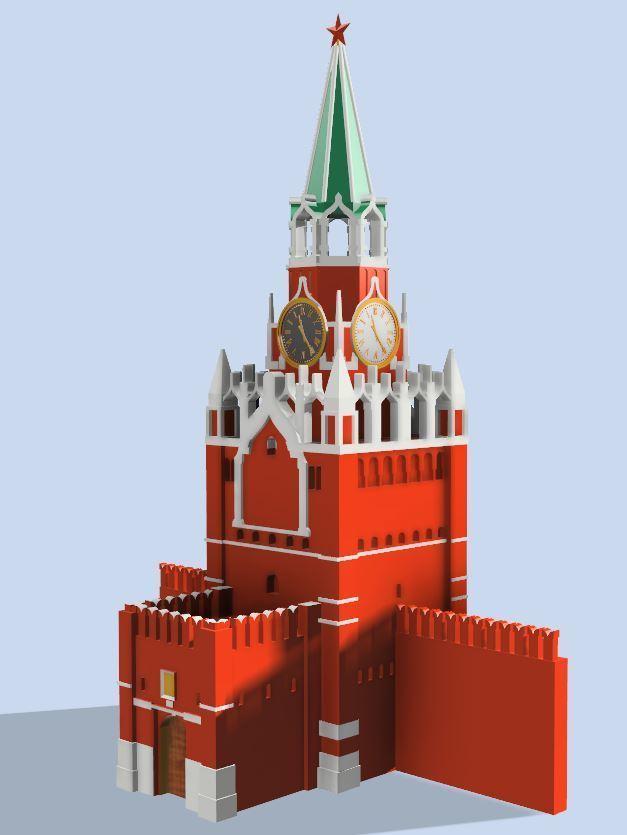 68cfe00d7df8da31c6c8c3fa07627cbf_display_large.JPG Télécharger fichier STL gratuit Tour Spasskaya du Kremlin sur la Place Rouge • Modèle à imprimer en 3D, EliGreen