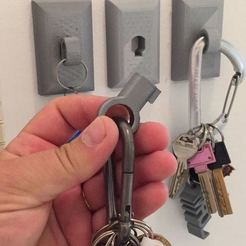 Download free 3D printer files Trinket wall mount for your keys, EliGreen