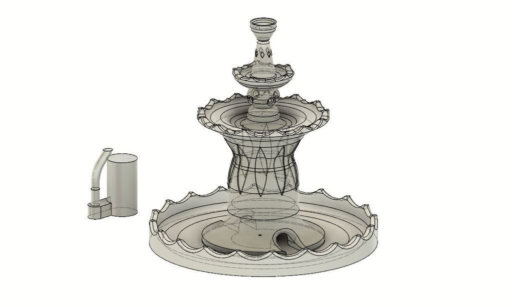 75fbb7f751dcbed3164815928ce30210_display_large.JPG Download free STL file One buck working fountain (watch the video) • 3D printing template, EliGreen