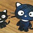 Descargar archivos 3D cute cat keychain, filaprim3d