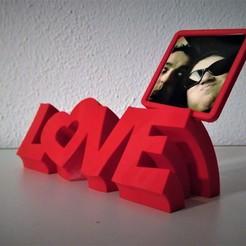 Télécharger fichier imprimante 3D Cadre photo avec texte d'amour, filaprim3d