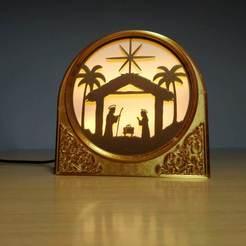 IMG_20201103_153744.jpg Download STL file Christmas Lamp (Luminous nativity) • 3D printer model, filaprim3d