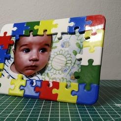 Télécharger modèle 3D Cadre photo puzzle, filaprim3d