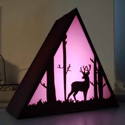 IMG_20201013_184821.jpg Descargar archivo STL Lámpara ciervo • Plan de la impresora 3D, filaprim3d
