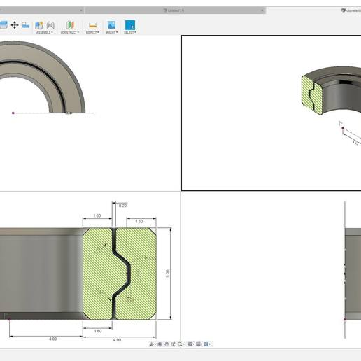 Télécharger modèle 3D gratuit 688 Roulement imprimé en place, filaprim3d