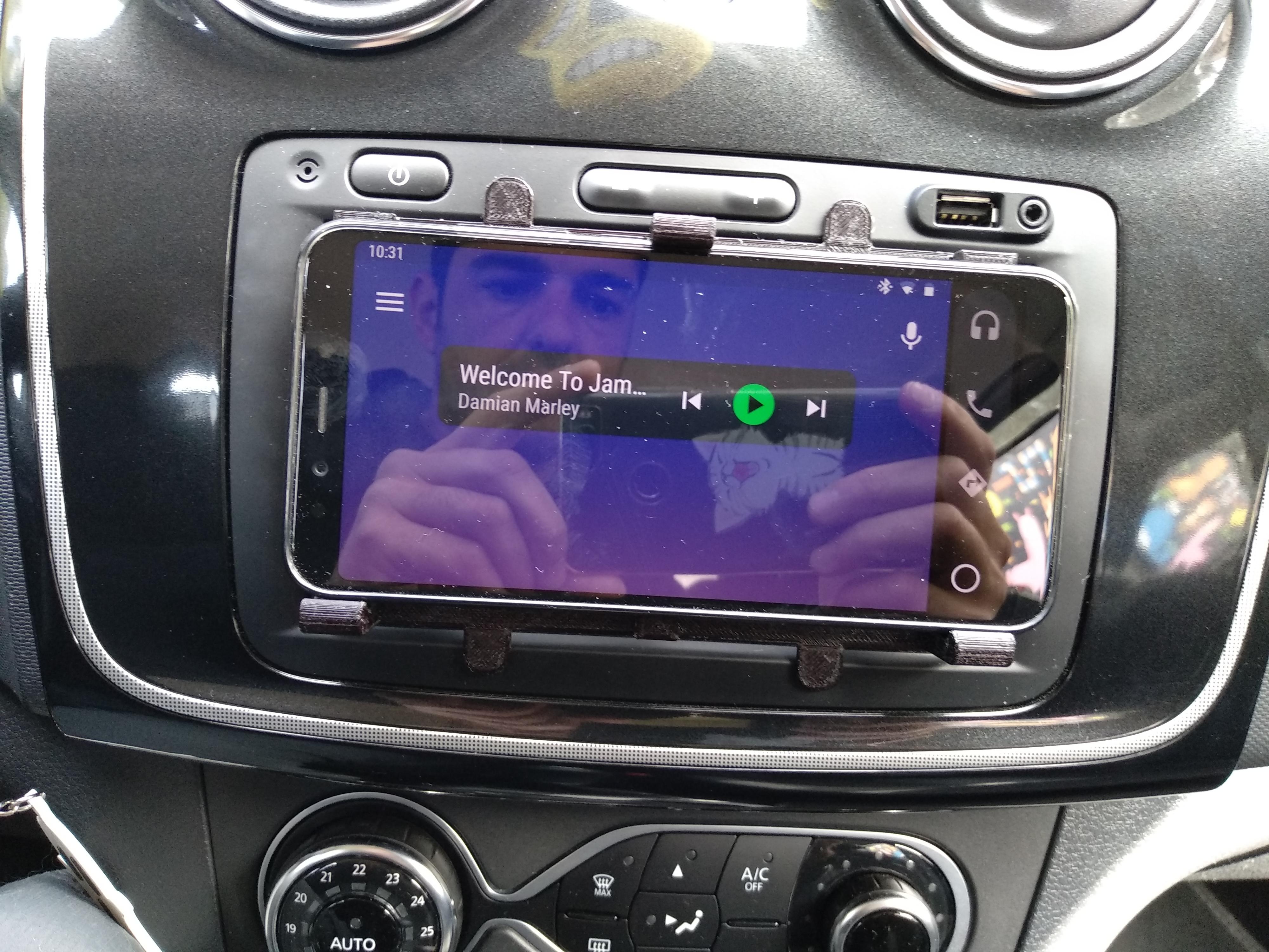IMG_20190416_103146.jpg Télécharger fichier STL gratuit Support de téléphone pour écran de navigation des médias • Objet pour imprimante 3D, filaprim3d