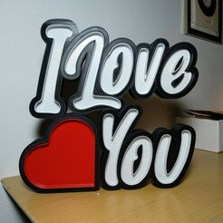IMG_20210116_195802.jpg Download STL file I Love You - Lamp • 3D printable model, filaprim3d