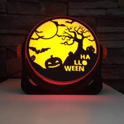IMG_20201018_115019.jpg Download STL file Halloween Lamp • 3D printable template, filaprim3d