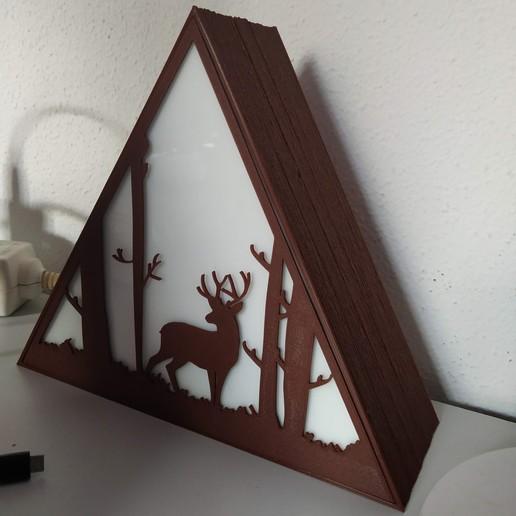 IMG_20201015_151802.jpg Descargar archivo STL Lámpara ciervo • Plan de la impresora 3D, filaprim3d