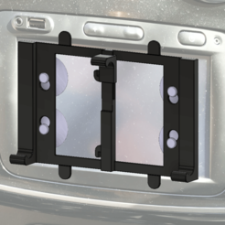Soporte_v3_v3.png Download free STL file Phone holder for media-nav screen • 3D printer model, filaprim3d