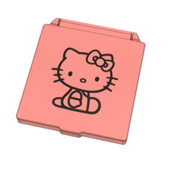 prev1.PNG Download STL file Hello kitty surgical face mask case • 3D printing model, filaprim3d
