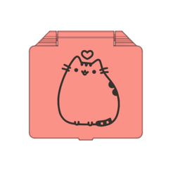 prev1.PNG Download STL file Pusheen face mask case (surgical and fabric face mask) • 3D printer template, filaprim3d